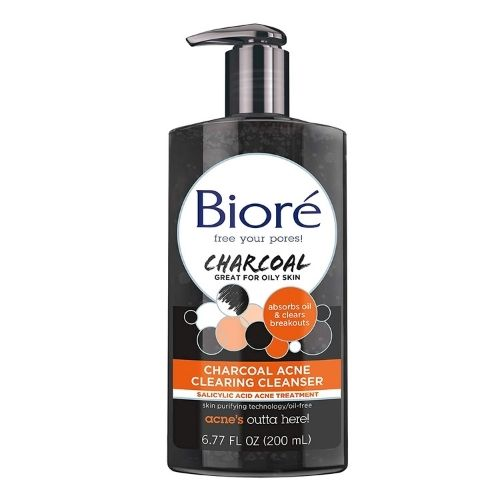 Biore Charcoal Acne Clearing Face Wash
