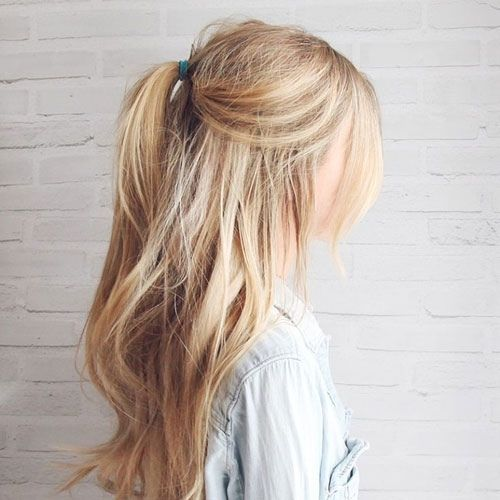 Loose Half Pony hair