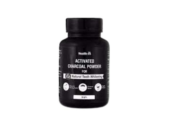 Health Vit Activated Charcoal Instant Teeth Whitening Powder