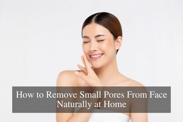 How to Remove Small Pores From Face Naturally
