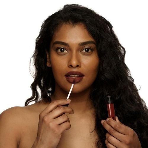 Mented liquid lipstick blacker the berry