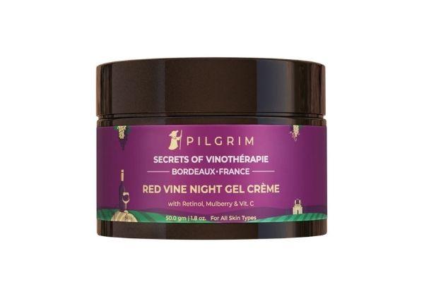 Pilgrim Red Vine Night Gel Creme with Retinol Mulberry & Vitamin C