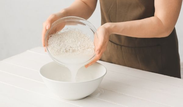 rice water for white hair